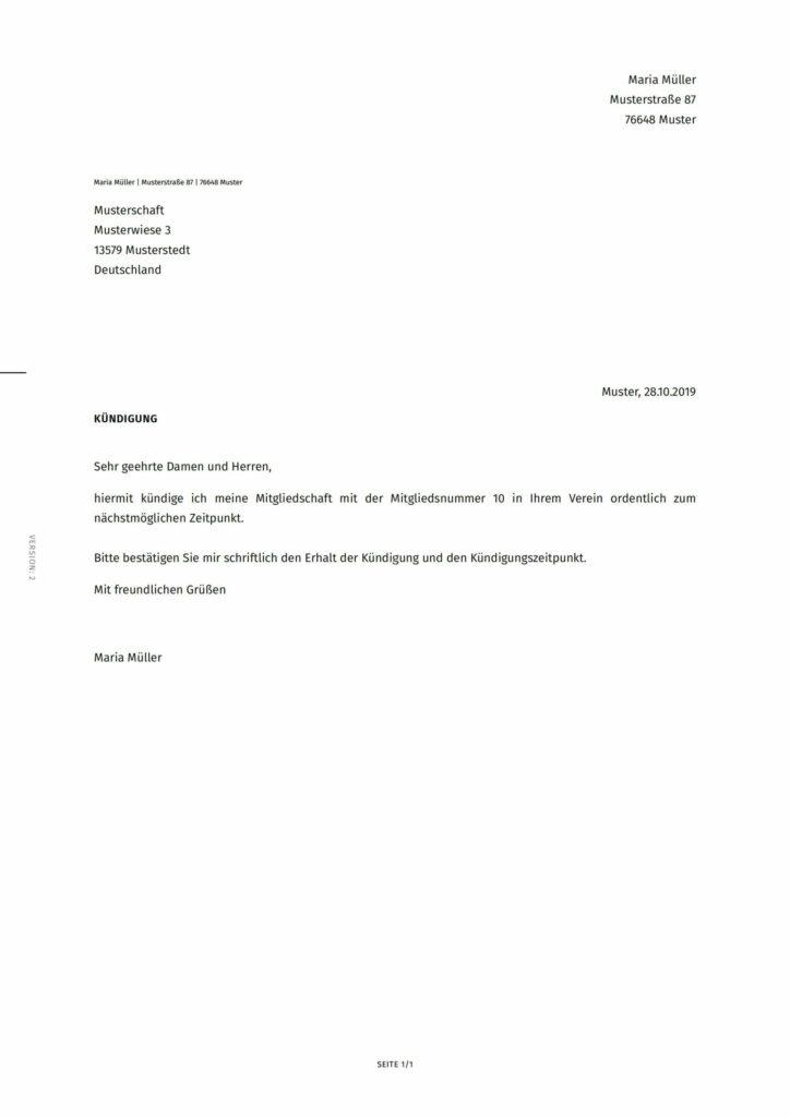 Kundigung Vereinsmitgliedschaft Vereinfacher