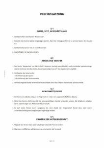 Vereinssatzung - automatisch erzeugt mit dem Dokumentengenerator vom Vereinfacher