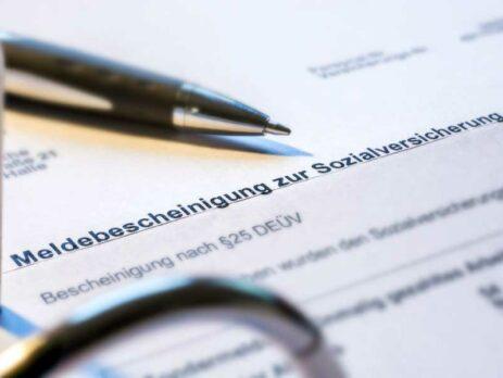 Meldebescheinigung Sozialversicherung