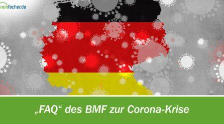 FAQ des BMF zur Corona-Krise